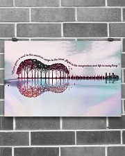 Guitar Music Gives A Soul To The Universe 17x11 Poster poster-landscape-17x11-lifestyle-18