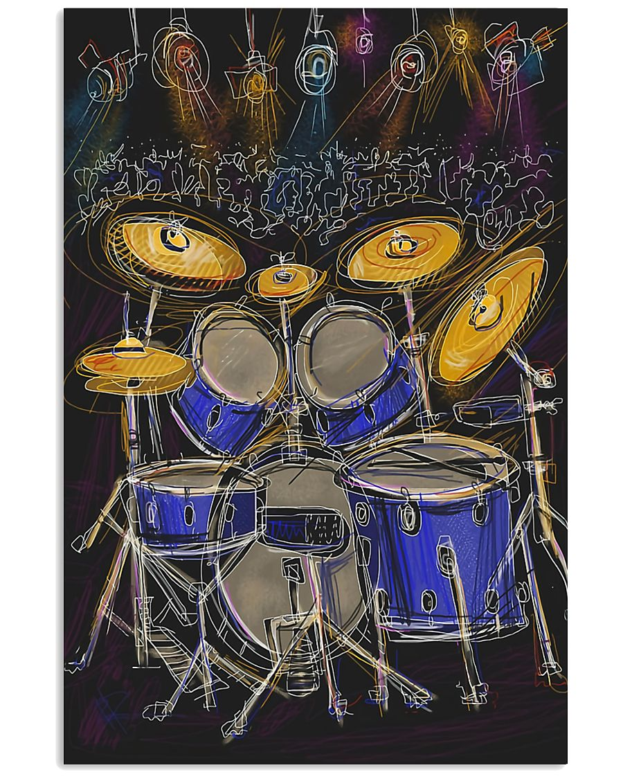 Drummer Drum set and light 11x17 Poster
