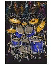 Drummer Drum set and light 11x17 Poster front
