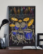 Drummer Drum set and light 11x17 Poster lifestyle-poster-2