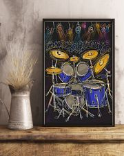 Drummer Drum set and light 11x17 Poster lifestyle-poster-3