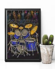 Drummer Drum set and light 11x17 Poster lifestyle-poster-8