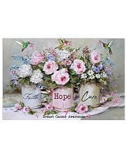 Breast Cancer Awareness Faith Hope Cure 17x11 Poster front