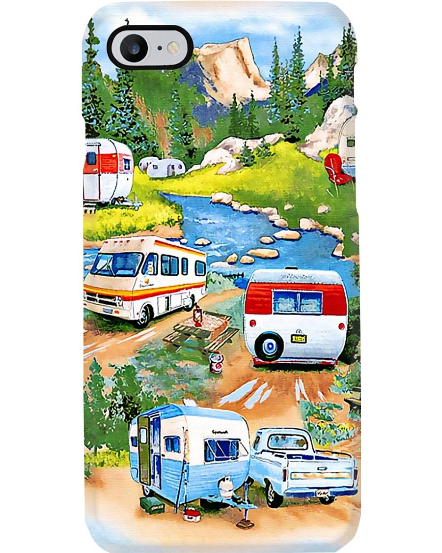 Camping Happy Campsite Phone Case