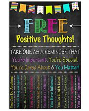 Social Worker Positive Thoughts 11x17 Poster front