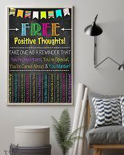 Social Worker Positive Thoughts 11x17 Poster lifestyle-poster-1
