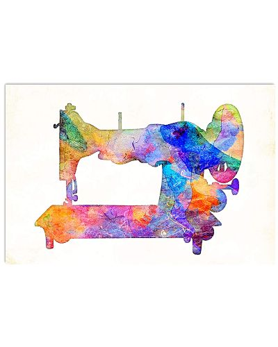 Watercolor Sewing Machine