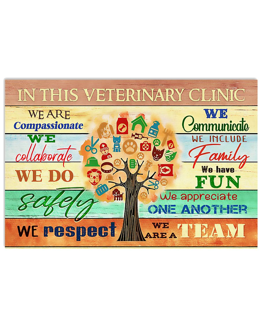 Veterinarian We Are A Team 17x11 Poster