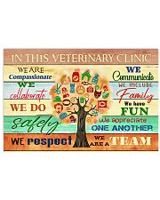 Veterinarian We Are A Team 17x11 Poster front
