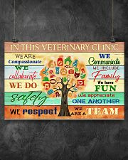 Veterinarian We Are A Team 17x11 Poster poster-landscape-17x11-lifestyle-12