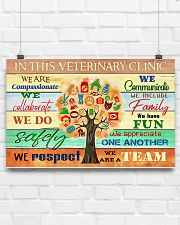 Veterinarian We Are A Team 17x11 Poster poster-landscape-17x11-lifestyle-17