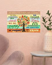 Veterinarian We Are A Team 17x11 Poster poster-landscape-17x11-lifestyle-22