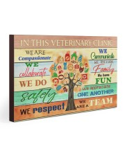 Veterinarian We Are A Team 30x20 Gallery Wrapped Canvas Prints thumbnail