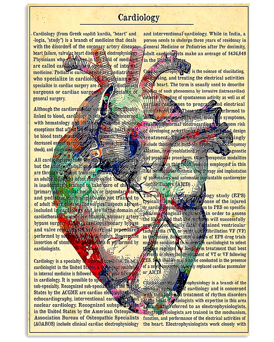 Cardiologist - Cardiology Knowledge 11x17 Poster