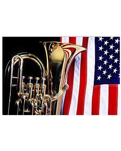 Tubist Tuba And American Flag