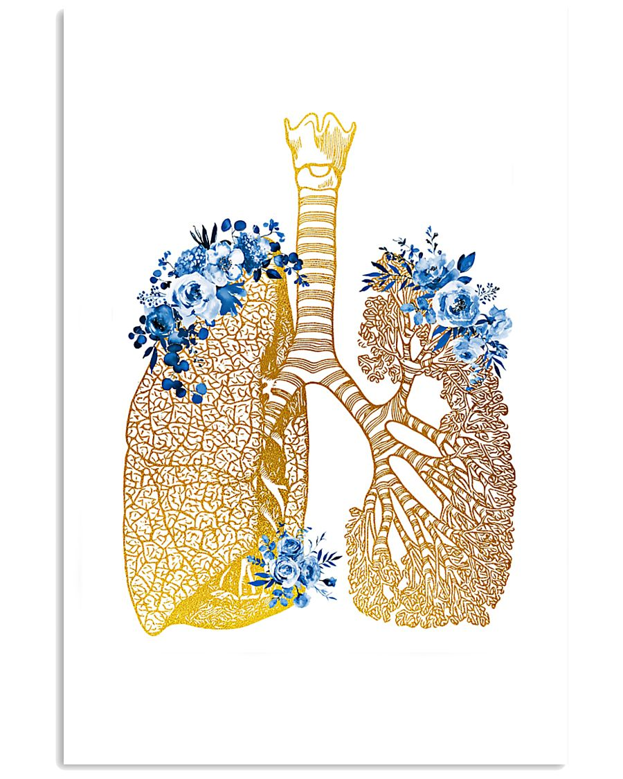Respiratory Therapist Floral Lung 11x17 Poster