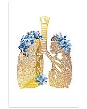 Respiratory Therapist Floral Lung 11x17 Poster front