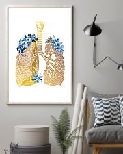 Respiratory Therapist Floral Lung 11x17 Poster lifestyle-poster-1