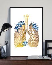Respiratory Therapist Floral Lung 11x17 Poster lifestyle-poster-2