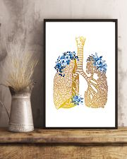 Respiratory Therapist Floral Lung 11x17 Poster lifestyle-poster-3