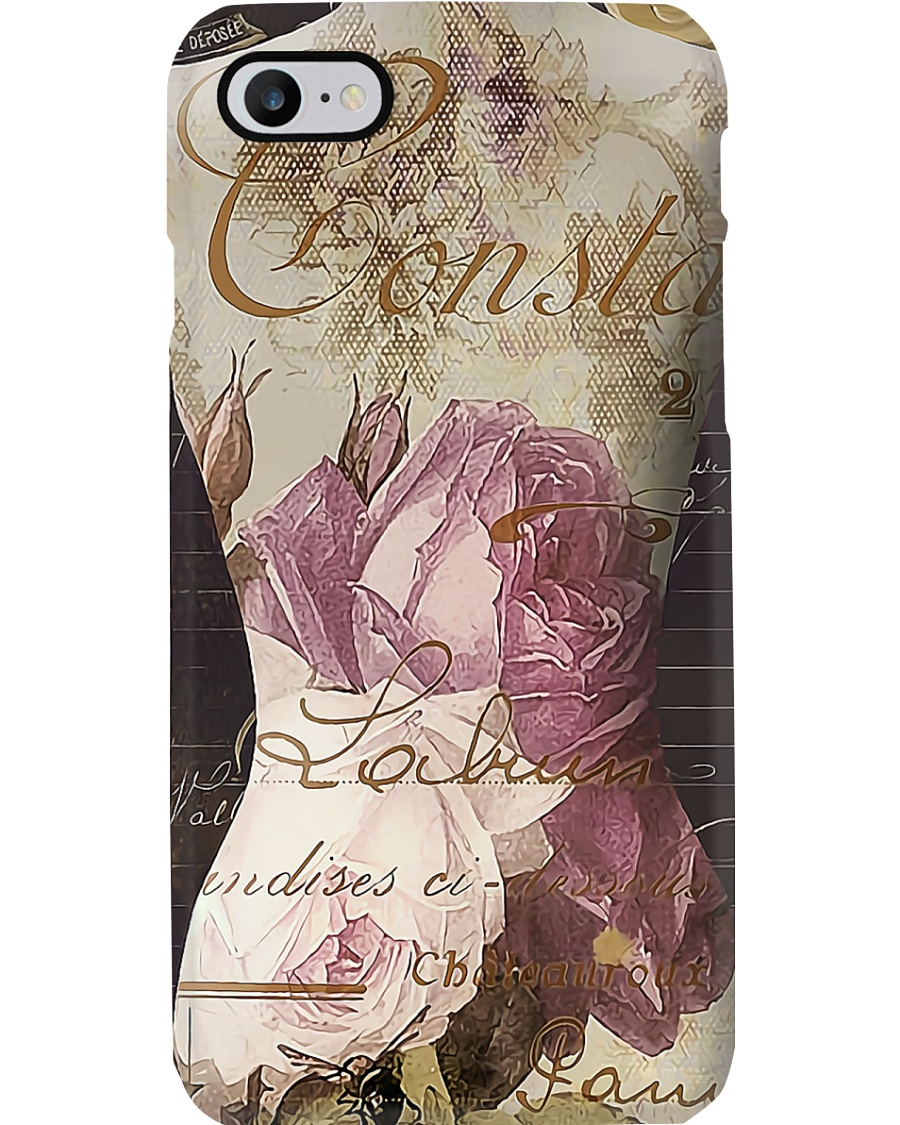 Sewing Flowery Mannequin Phone Case