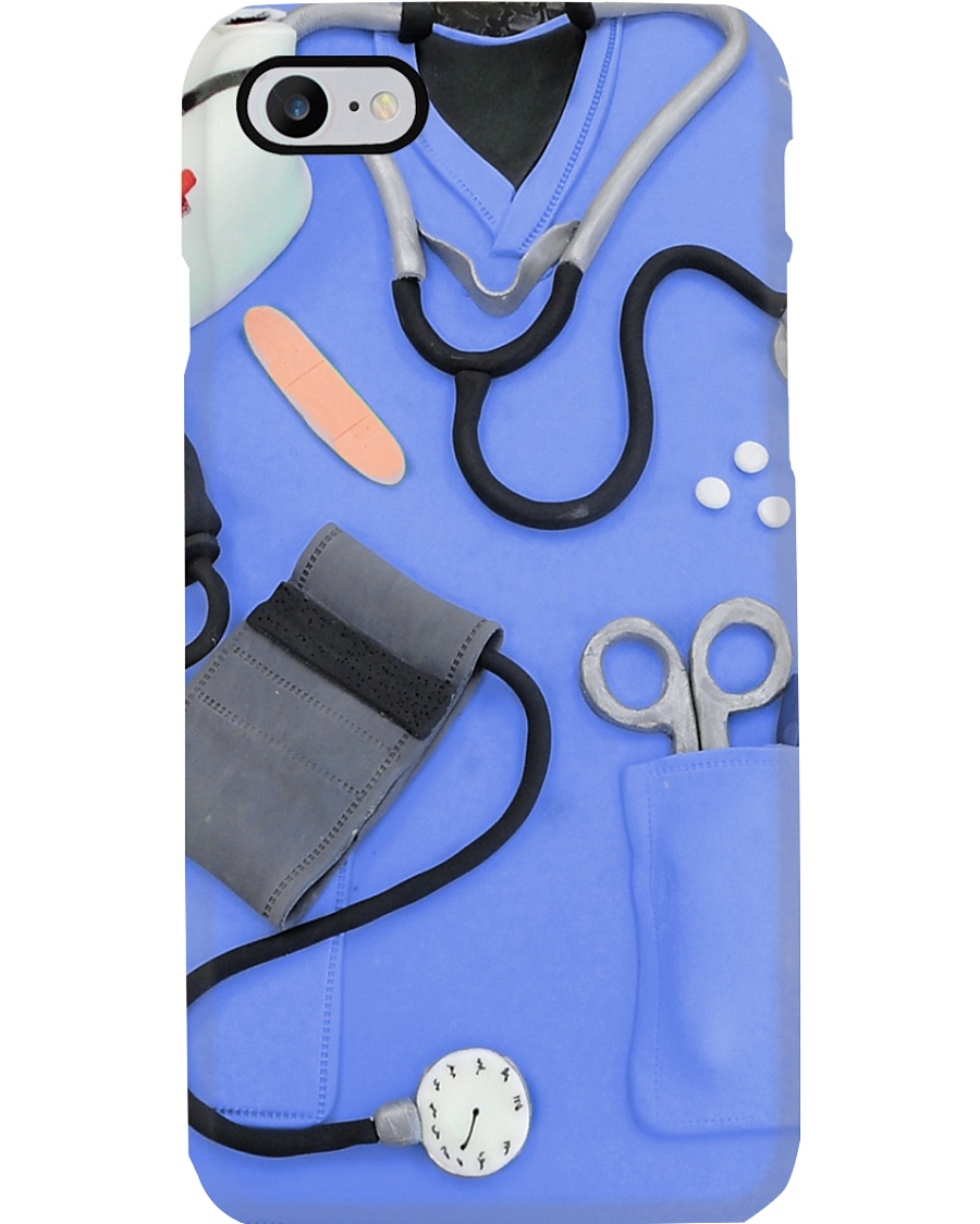 Nurse Blue Scrubs Phone Case