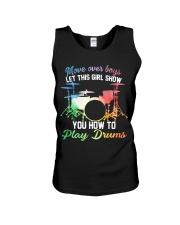 Drummer - Let this girl show you how to play drums Unisex Tank thumbnail
