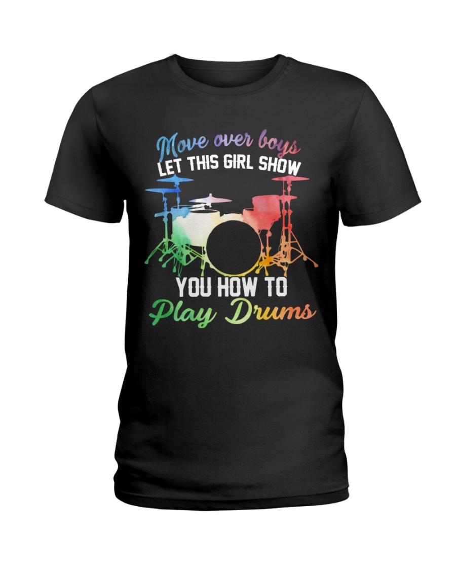 Drummer - Let this girl show you how to play drums Ladies T-Shirt