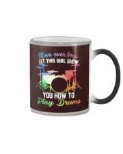 Drummer - Let this girl show you how to play drums Color Changing Mug thumbnail
