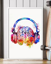 DJ - Colorful brain with headphone 11x17 Poster lifestyle-poster-4