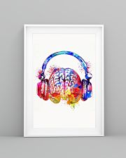DJ - Colorful brain with headphone 11x17 Poster lifestyle-poster-5