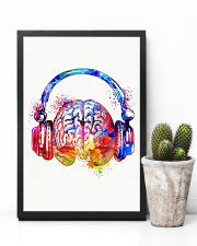 DJ - Colorful brain with headphone 11x17 Poster lifestyle-poster-8