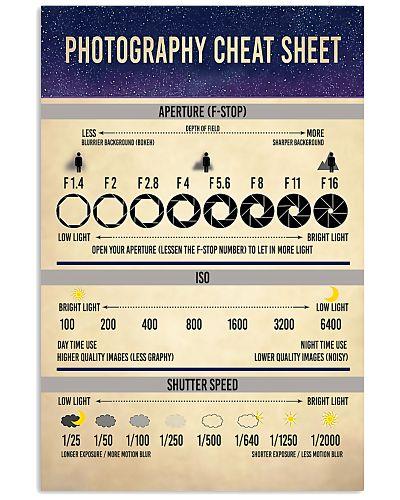 Photography Cheat Sheet Photographer