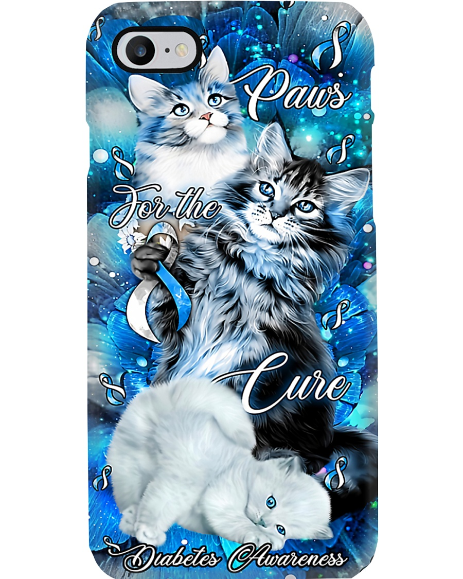 Diabetes Awareness Paws For The Cure Phone Case