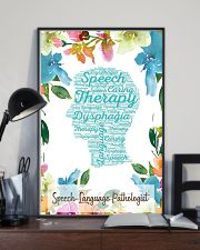 SLP Speech Therapy Dysphagia  11x17 Poster lifestyle-poster-2