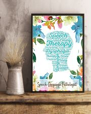 SLP Speech Therapy Dysphagia  11x17 Poster lifestyle-poster-3