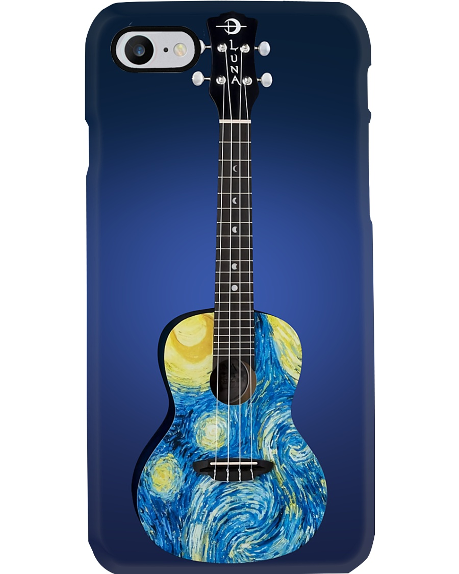 Blue Art Ukulele Phone Case