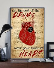 Drummer Beat of the drums move your untamed heart 11x17 Poster lifestyle-poster-2
