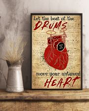 Drummer Beat of the drums move your untamed heart 11x17 Poster lifestyle-poster-3