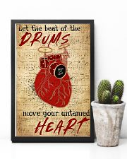 Drummer Beat of the drums move your untamed heart 11x17 Poster lifestyle-poster-8