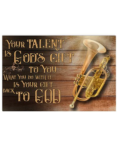 Trumpet Your Talent is god's gift to you Poster