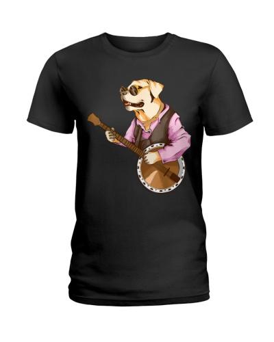 Funny Dog Playing Banjo