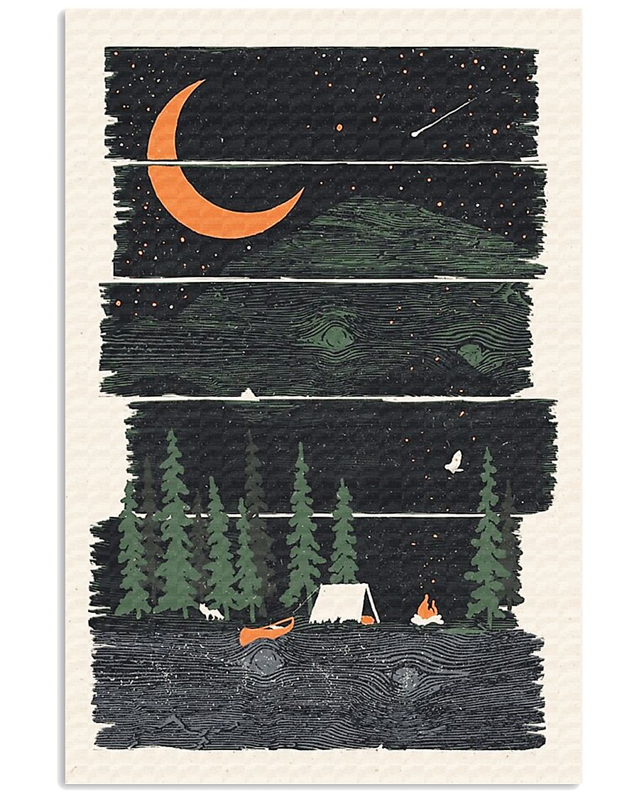 Camping Fire Under Stars  11x17 Poster