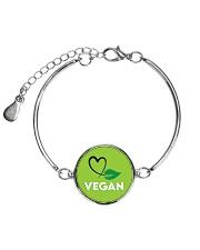 Vegan Metallic Circle Bracelet thumbnail