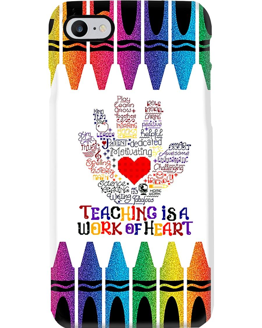 Teacher Teaching Is A Work Of Heart Phone Case