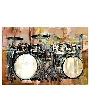 Drummer Vintage Drum Set 17x11 Poster front