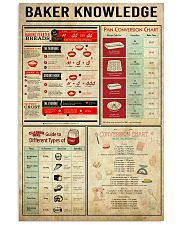 Baking Baker Knowledge Poster 11x17 Poster front
