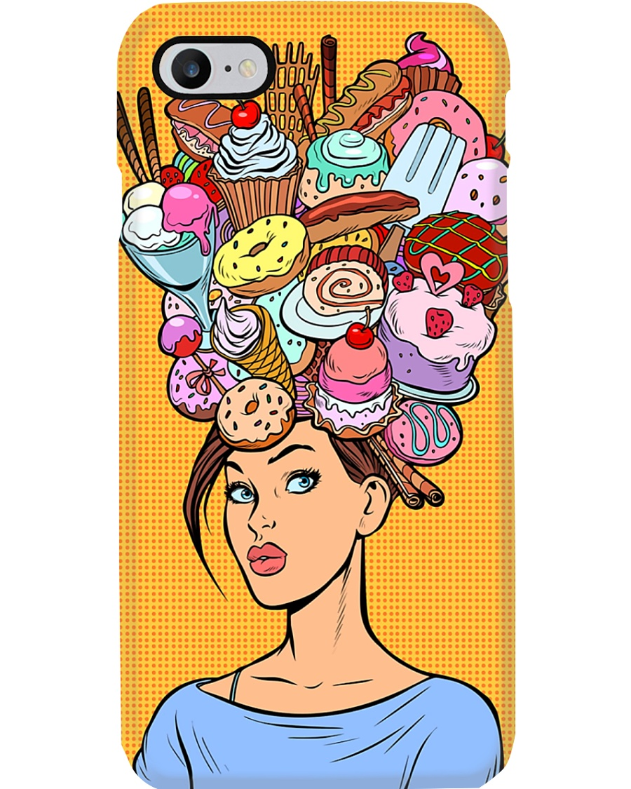 Baking Girl with cakes Phone Case