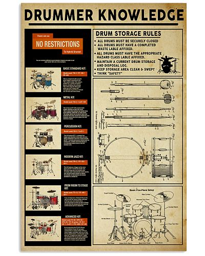 Drummer Knowledge Poster