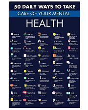 Teacher 50 Daily Ways To Take Care Mental Health 11x17 Poster front
